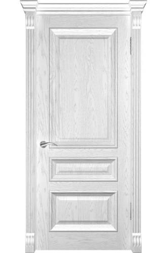 Межкомнатная дверь Фараон-2 (ДГ Дуб белая эмаль) глухая, дуб белая эмаль (Товар № ZF190959)