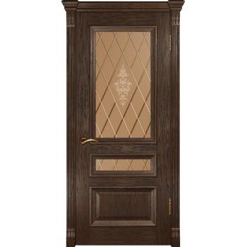Межкомнатная дверь Фараон-2 (ДО мореный дуб) со стеклом, мореный дуб (Товар № ZF190963)