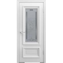 Межкомнатная дверь Модель B-1 (стекло) со стеклом, белая эмаль (Товар № ZF191094)