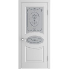 Межкомнатная дверь Модель L-1 (стекло) со стеклом, белая эмаль (Товар № ZF191096)
