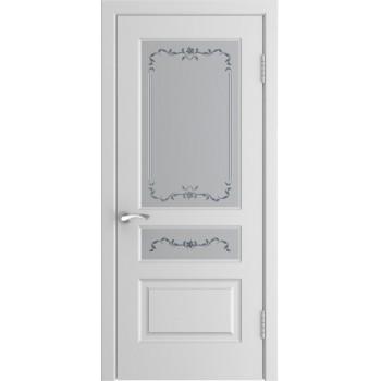 Межкомнатная дверь Модель L-2 (стекло) со стеклом, белая эмаль (Товар № ZF191097)
