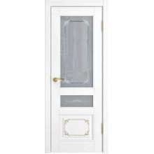 Межкомнатная дверь Модель L-3 (стекло) со стеклом, белая эмаль (Товар № ZF191099)