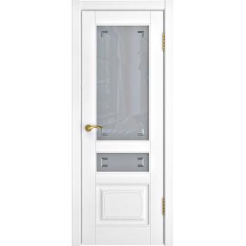 Межкомнатная дверь Модель L-4 (стекло) со стеклом, белая эмаль (Товар № ZF191101)