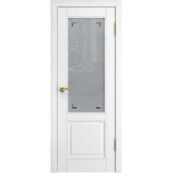 Межкомнатная дверь Модель L-5 (стекло) со стеклом, белая эмаль (Товар № ZF191103)