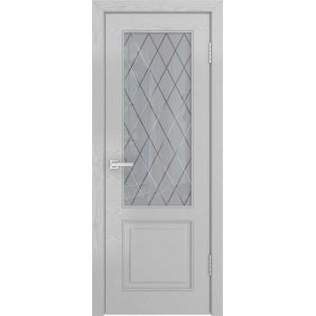 Межкомнатная дверь НЕО-1 (ясень манхеттен, стекло) со стеклом, ясень манхетен (Товар № ZF191107)