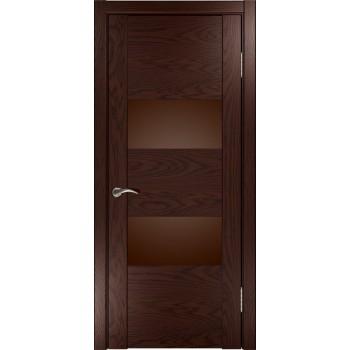 Межкомнатная дверь Орион-2 (мореный дуб) со стеклом, мореный дуб (Товар № ZF191106)