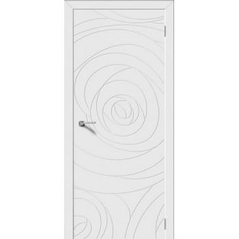 Межкомнатная дверь Модель ROSE глухая, белая эмаль (Товар № ZF191111)