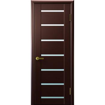 Межкомнатная дверь Осирис (венге, стекло белое) светлое, венге (Товар № ZF191110)