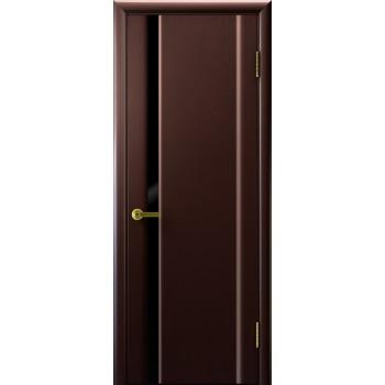 Межкомнатная дверь СИНАЙ 1 (венге, стекло черное) черное, венге (Товар № ZF191116)