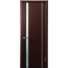 Межкомнатная дверь СИНАЙ 1 (венге,стекло белое) светлое, венге (Товар № ZF191115)