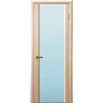 Межкомнатная дверь Синай 3 (белый дуб, стекло белое) светлое, беленый дуб (Товар № ZF191119)