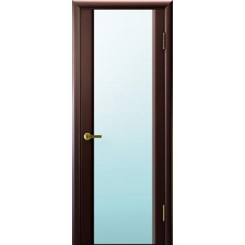Межкомнатная дверь Синай 3 (венге, стекло белое) светлое, венге (Товар № ZF191124)
