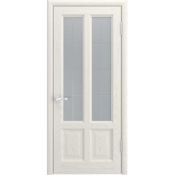 Межкомнатная дверь ТИТАН-3 (Дуб RAL 9010, до) со стеклом, дуб ral 9010 (Товар № ZF191126)