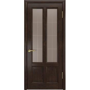 Межкомнатная дверь ТИТАН-3 (Мореный дуб,до) со стеклом, мореный дуб (Товар № ZF191127)