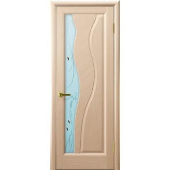 Межкомнатная дверь Торнадо (Беленый дуб, стекло) со стеклом, беленый дуб (Товар № ZF191131)
