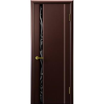 Межкомнатная дверь Трава 1 (венге, стекло) со стеклом, венге (Товар № ZF191138)