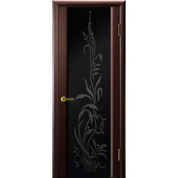 Межкомнатная дверь Трава 2 (венге, стекло) со стеклом, венге (Товар № ZF191139)