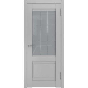 Межкомнатная дверь U-52 (винил, манхеттен, стекло) со стеклом, манхеттен (Товар № ZF191145)