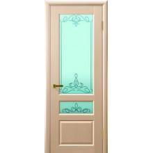 Межкомнатная дверь ВАЛЕНТИЯ 2 (беленый дуб, стекло) со стеклом, беленый дуб (Товар № ZF191148)