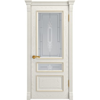 Межкомнатная дверь ФЕМИДА-2 (Дуб RAL 9010, до) со стеклом, дуб ral 9010 (Товар № ZF190965)