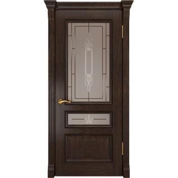 Межкомнатная дверь ФЕМИДА-2 (Мореный дуб, до) со стеклом, мореный дуб (Товар № ZF190968)