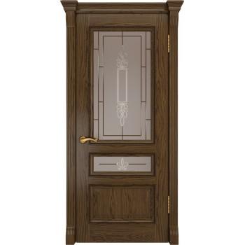 Межкомнатная дверь ФЕМИДА-2 (Светлый мореный дуб, до) со стеклом, светлый мореный дуб (Товар № ZF190970)