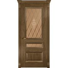 Межкомнатная дверь Фараон-2 (ДО Светлый мореный дуб) со стеклом, светлый мореный дуб (Товар № ZF190967)