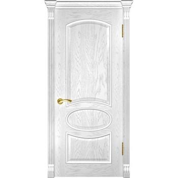 Межкомнатная дверь Грация (ДГ дуб белая эмаль) глухая, дуб белая эмаль (Товар № ZF190975)