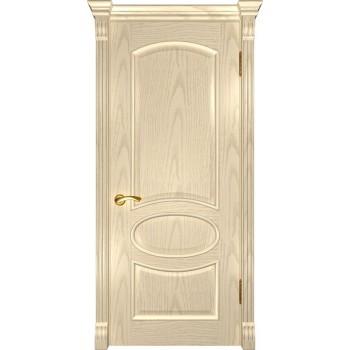 Межкомнатная дверь Грация (ДГ дуб слоновая кость) глухая, слоновая кость (Товар № ZF190976)