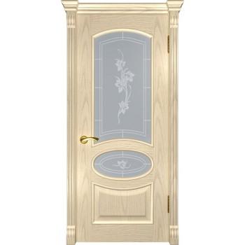 Межкомнатная дверь Грация (ДО дуб слоновая кость) со стеклом, слоновая кость (Товар № ZF190979)