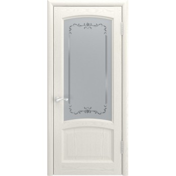 Межкомнатная дверь КЛИО (Дуб RAL 9010, до) со стеклом, дуб ral 9010 (Товар № ZF190991)