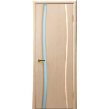Межкомнатная дверь Клеопатра 1 (беленый дуб стекло белое) светлое, беленый дуб (Товар № ZF190984)