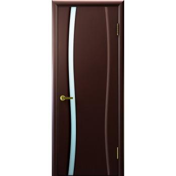 Межкомнатная дверь Клеопатра 1 (венге стекло белое) светлое, венге (Товар № ZF190987)