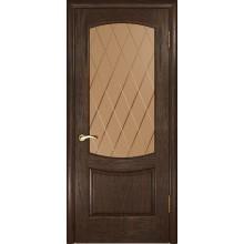 Межкомнатная дверь Лаура 2 (Мореный дуб, стекло) со стеклом, мореный дуб (Товар № ZF190995)