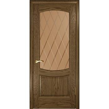 Межкомнатная дверь Лаура 2 (Светлый мореный дуб, стекло) со стеклом, светлый мореный дуб (Товар № ZF191000)