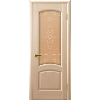 Межкомнатная дверь Лаура (беленый дуб, стекло) со стеклом, беленый дуб (Товар № ZF191002)