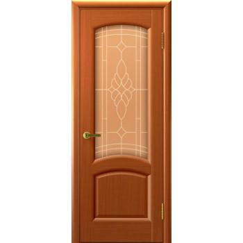 Межкомнатная дверь Лаура (темный Анегри, стекло) со стеклом, темный анегри т74 (Товар № ZF191008)