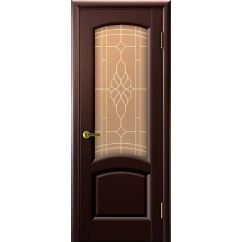 Межкомнатная дверь Лаура (венге, стекло) со стеклом, венге (Товар № ZF191010)