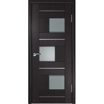 Межкомнатная дверь ЛУ-11 (Венге) со стеклом, венге (Товар № ZF191023)