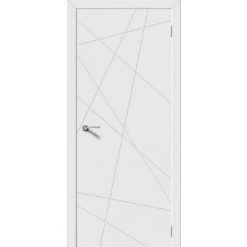 Межкомнатная дверь Модель LINE глухая, белая эмаль (Товар № ZF191020)