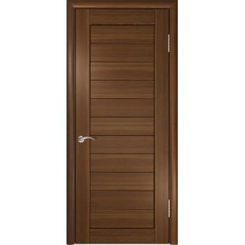 Межкомнатная дверь ЛУ-21 (Темный орех) глухая, тёмный орех (Товар № ZF191031)