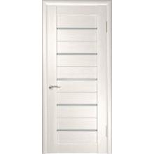 Межкомнатная дверь ЛУ-22 (Беленый дуб) со стеклом, беленый дуб (экошпон) (Товар № ZF191035)