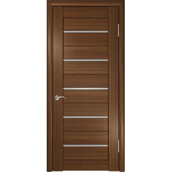 Межкомнатная дверь ЛУ-22 (Темный орех) со стеклом, тёмный орех (Товар № ZF191036)