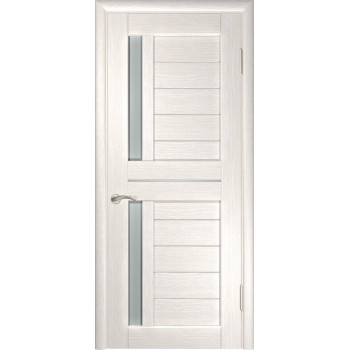 Межкомнатная дверь ЛУ-27 (Беленый дуб) со стеклом, беленый дуб (экошпон) (Товар № ZF191043)