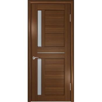 Межкомнатная дверь ЛУ-27 (Темный орех) со стеклом, тёмный орех (Товар № ZF191048)