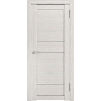 Межкомнатная дверь ЛУ-7 (Беленый дуб белое стекло) беленый дуб (экошпон) (Товар № ZF191059)