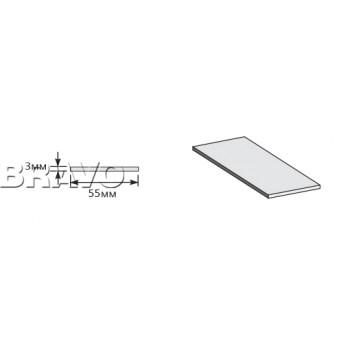 Шпонка ХДФ 2050*55*3, Браво-1.55, Wenge Veralinga / Mirox Grey