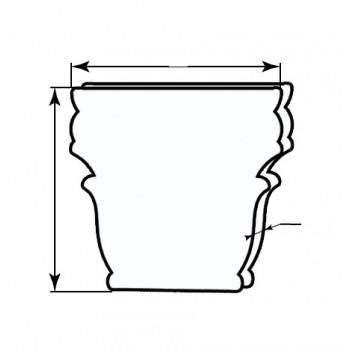 Комплект капители (из 3-х элементов) 900 мм Капители Венера (багет, дуб карамель, глухая) глухие, дуб карамель