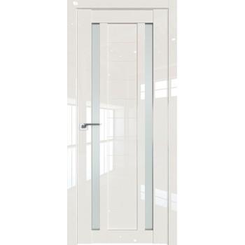 Дверь Профиль дорс 15L Магнолия люкс - со стеклом (Товар № ZF209279)