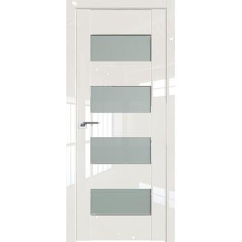 Дверь Профиль дорс 46L Магнолия люкс - со стеклом (Товар № ZF209412)